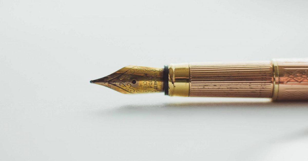 brass quilt pen
