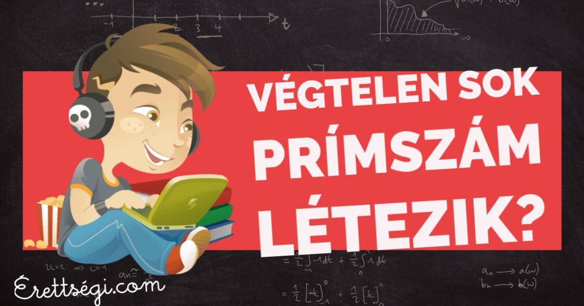 Végtelen sok prímszám létezik – bizonyítás